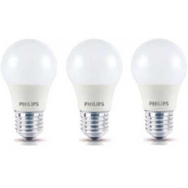 Philips 4W Standard E27 350L LED Bulb White Pack of 3