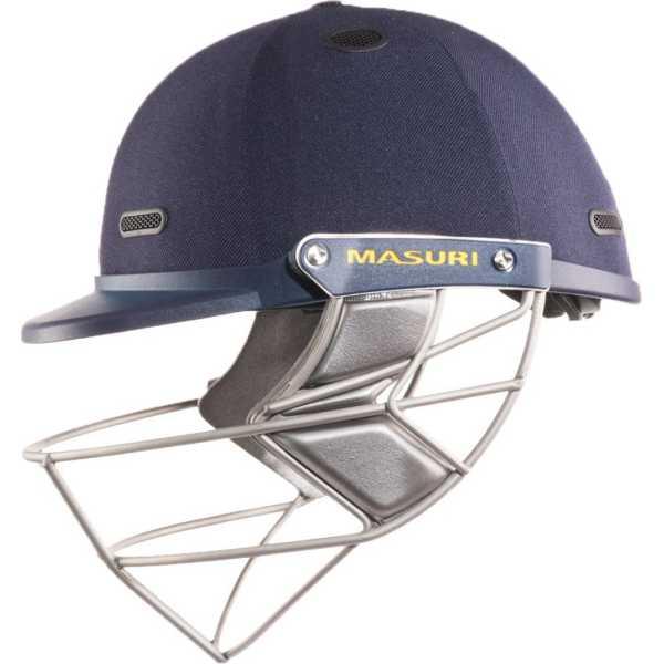 Masuri Test Vision Series Stainless Steel Grill Cricket Helmet (Large) - Blue