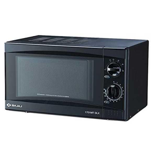 Bajaj 1701MT DLX 17L Solo Microwave Oven - Black