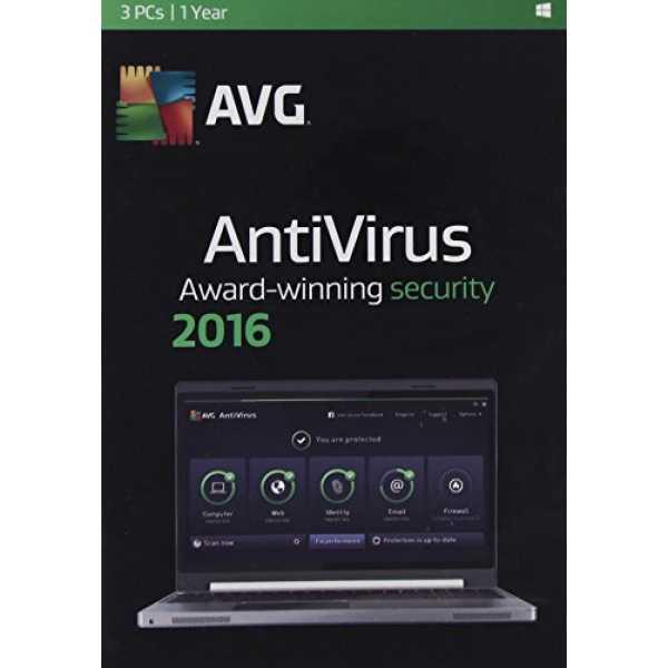 AVG AntiVirus 2016 3PC 1Year