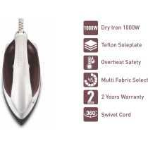 Syska Magic SDI-15D 1000W Dry Iron - White