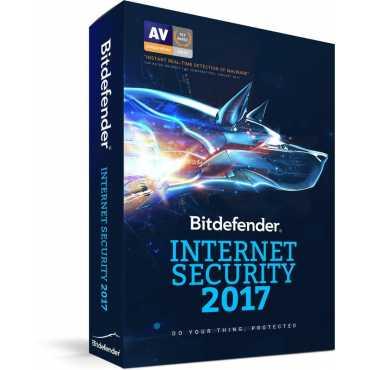 Bitdefender Internet Security 2017 3 PC 1 Year Antivirus