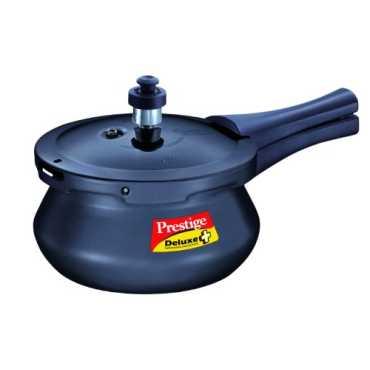 Prestige Deluxe Plus Aluminium Baby 2 L Handi Pressure Cooker (Outer Lid) - Black