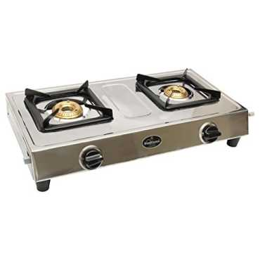 Sunflame Style DX SS 2 Burner Gas Cooktop - Silver