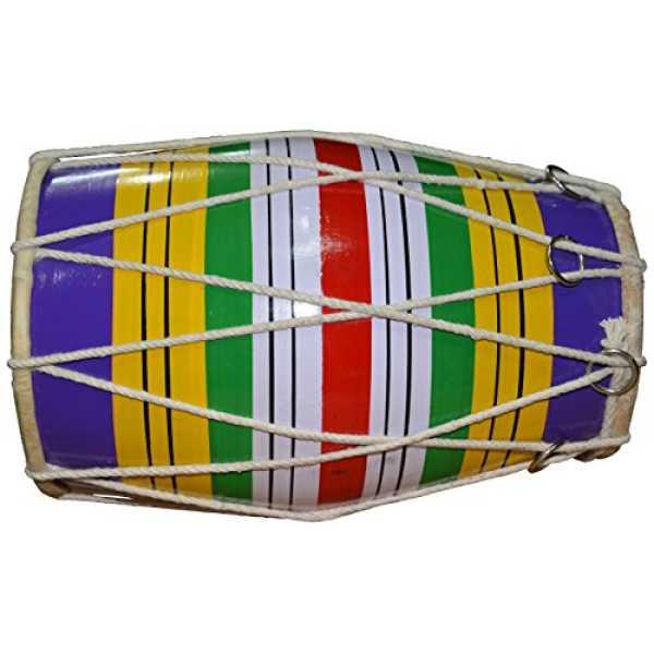 DronaIndia DIPL-M-066 Dholaki Hand Percussion Drum - Multi Color