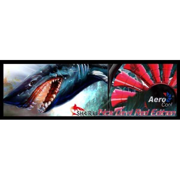 AeroCool Shark 140mm Cooling Fan - Red | Green | White