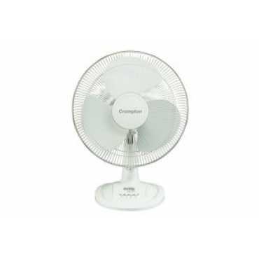 Crompton Riviera 3 Blade Table Fan - White