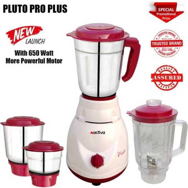 Activa Pluto Pro Plus 650W Mixer Grinder (4 Jars)
