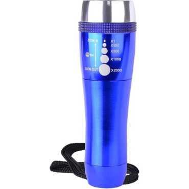 Halo Zoom LED Aluminum Flash Torch Light - Blue