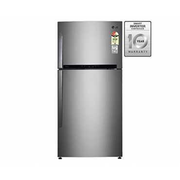 LG GR-M772HLHM 606 Litres Double Door Refrigerator - Shiny Steel