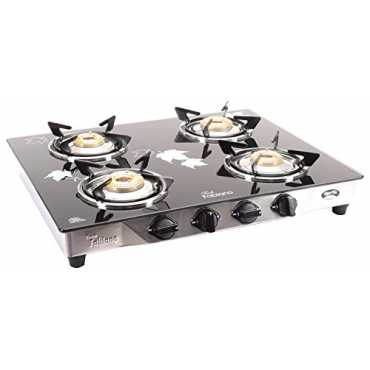 Fabiano Stainless Steel and Glass Cooktop (4 Burner) - Steel