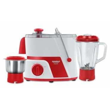 Maharaja Whiteline JMG Easy Lock 550W Juicer Mixer Grinder (2 Jars) - Red And White
