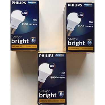 Philips 13W B22 1400L LED Bulb Yellow Pack of 3