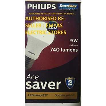 Philips Ace Saver 9W 740L E27 LED Bulb (Warm White, Pack of 4) - White