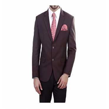 ManQ Brown Slim Fit Formal/Party Mens Blazer