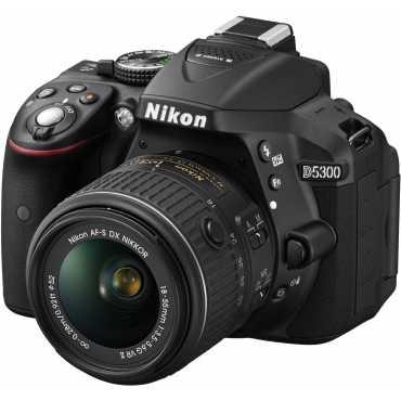 Nikon D5300 DSLR (with 18-55mm VR Lens and AF-S Nikkor 50mm F/1.8G Twin Prime Lens) - Black