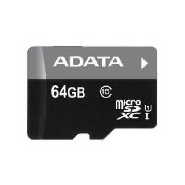 AData AUSDX64GUICL10-RM3BKBL 64GB Class 10 MicroSDXC Memory Card