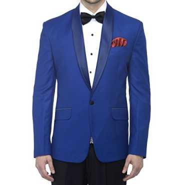 Favoroski Men's Polyester and Viscose Blazers - Royal Blue