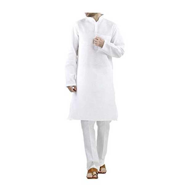 Royal Kurta Mens 100% cotton white comfortable kurta pyjama