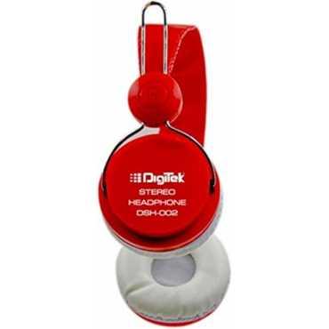 Digitek  DSH-002 Stereo Headphones - Red