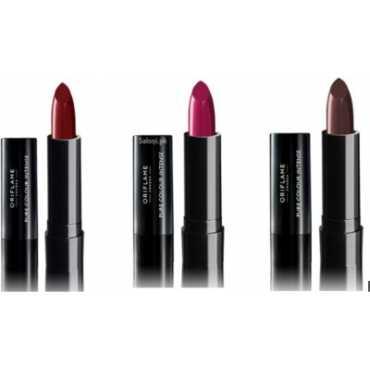 Oriflame Pure Color Intense Lipstick (Warm Rust, Fabulous Fuchsia, Dark Burgundy) (Set of 3) - Purple