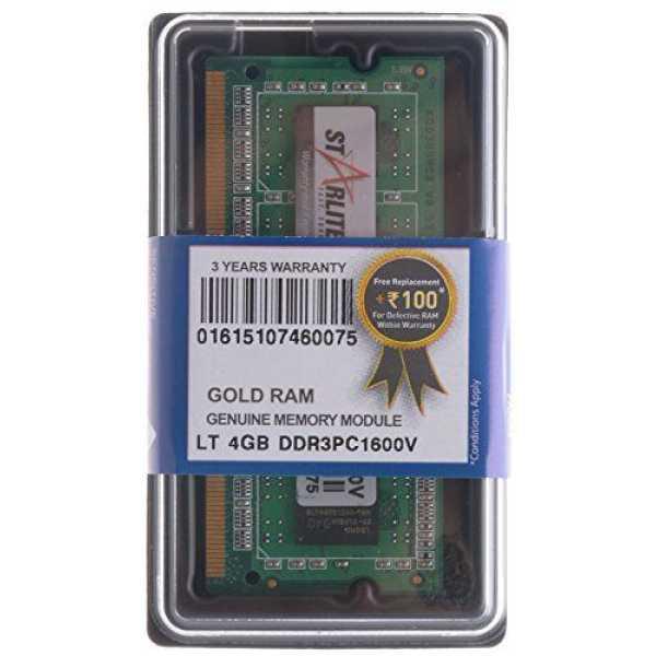 STARLITE LT PC1600V-Gold 4GB DDR3 Laptop Ram