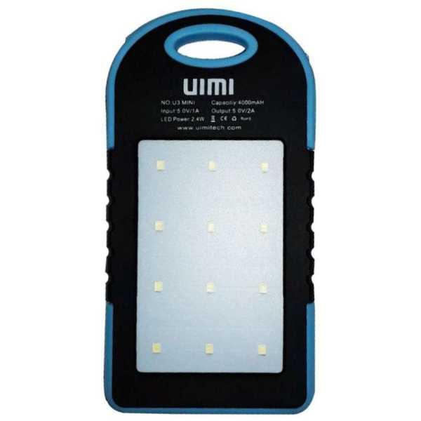 UIMI U3 Mini Waterproof 4000mAh Power Bank
