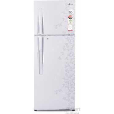 LG GL-D302RPJL 285 Ltr 4S Double Door Refrigerator (Gardenia) - White   Red
