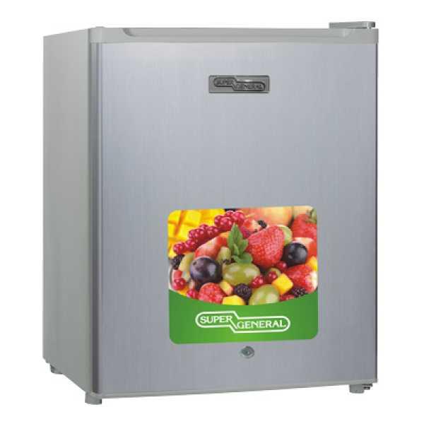 Super General SGRI-035HS 46L Single Door Refrigerator - Silver