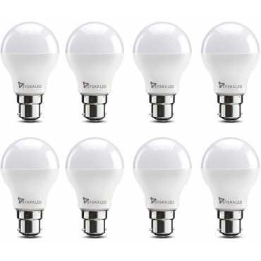 Syska 9W B22 LED Bulb (Yellow, Pack of 8) - Yellow