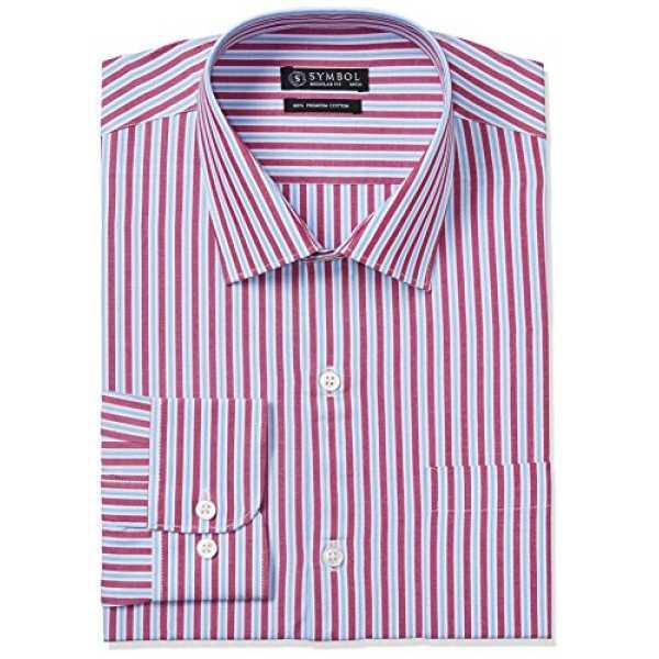Symbol Men's Formal Regular Fit Shirt (S17MBS154_40_Red)