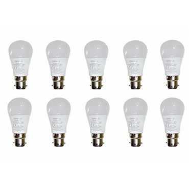 Opple 3W Round B22 250L LED Bulb (White,Pack of 10) - White