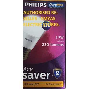 Philips  Ace Saver 2.7W E27 230L LED Bulb (Warm White, Pack of 10) - White