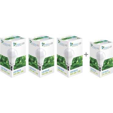Syska 12W LED Bulb (Pack of 3) With Free 7W LED Bulb - White