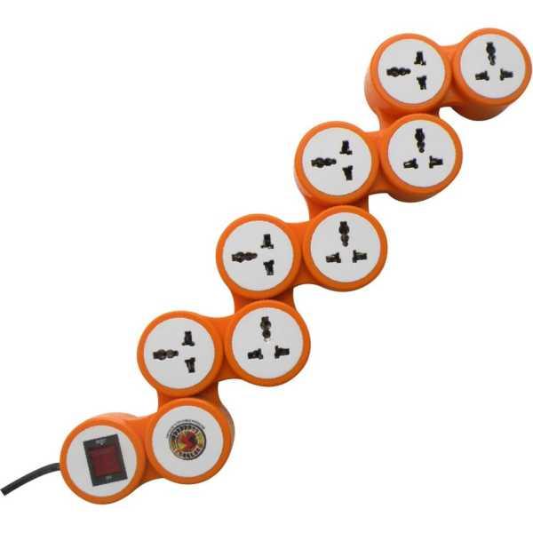 MX 3324 8 Outlet Snake Surge Protector - Orange