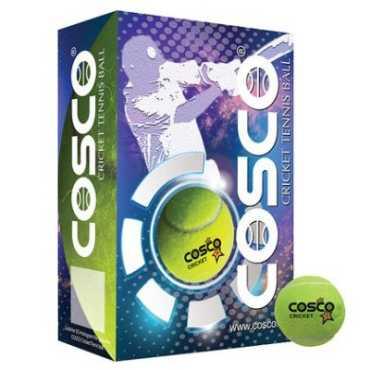 Cosco Cricket Light Weight Cricket Tennis Ball (Pack of 6) - Yellow
