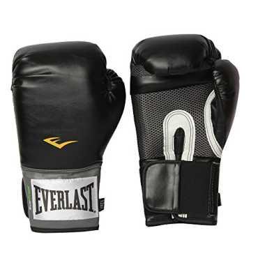 Everlast 1200013 Pro Style Training Gloves 12 Oz - Black