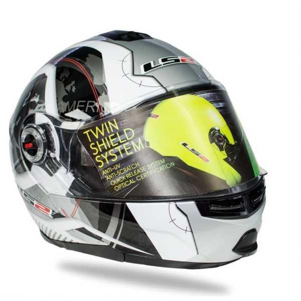 LS2 Helmets FF386 Universe Motorbike Helmet (Large) - White