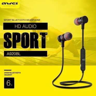 Awei A920BL Explosive Bass Bluetooth Headset  - Black