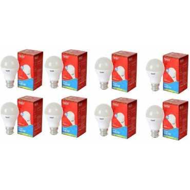 Ajanta 7W B22 630L LED Bulb  (White, Pack of 8) - White