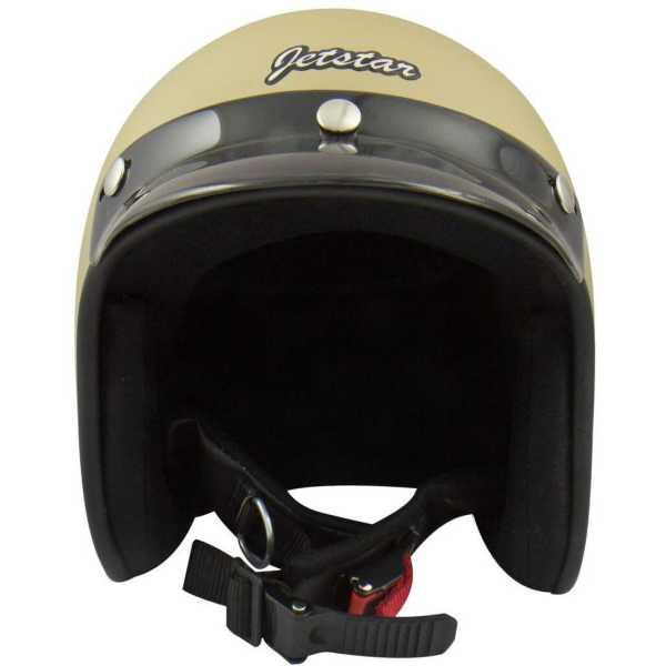 Anokhe Collections JetStar Retro Styled Motorbike Helmet (Large) - Black