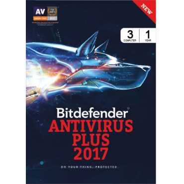 Bitdefender Antivirus Plus 2017 3 PC 1 Year Antivirus