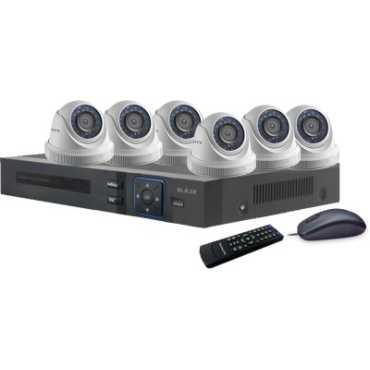 Blaze BGD6B0-HD 8-Channel Dvr, 6(1.3MP) HD Dome CCTV Cameras - White