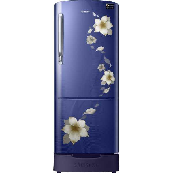 Samsung RR20M182ZB2/R2/U2 192L 3S Single Door Refrigerator (Star Flower) - Red | Black | Blue