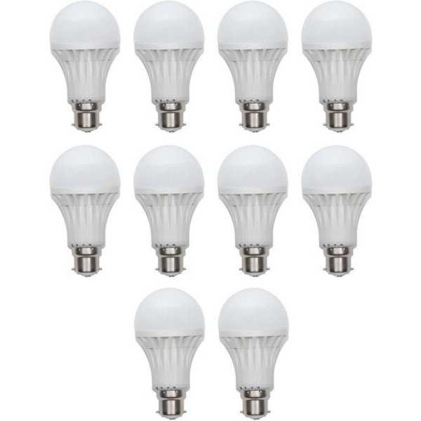 Digilight 9W Plastic Body White LED Bulb (Pack Of 10) - White