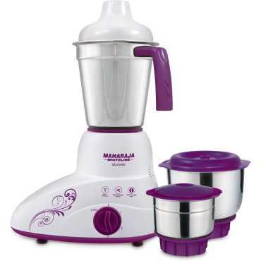 Maharaja Whiteline Stunner 500W Mixer Grinder (3 Jars) - Purple | White