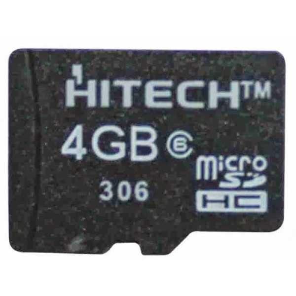 Hitech 4GB MicroSDHC Class 4 Memory Card
