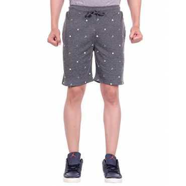 Men's Shorts (DFH-MN-DG-ALLPRINT01--S, Grey, Small)