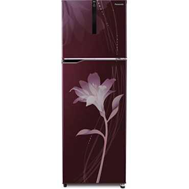 Panasonic NR-BG311PLW3 307 L 3 Star Inverter Frost Free Double Door Refrigerator (Lily) - Lily Wine