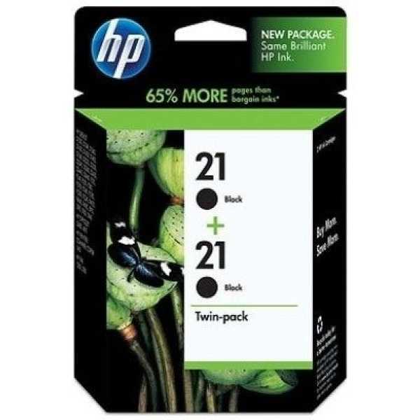 HP 21 2-Pack Black Ink Cartridges